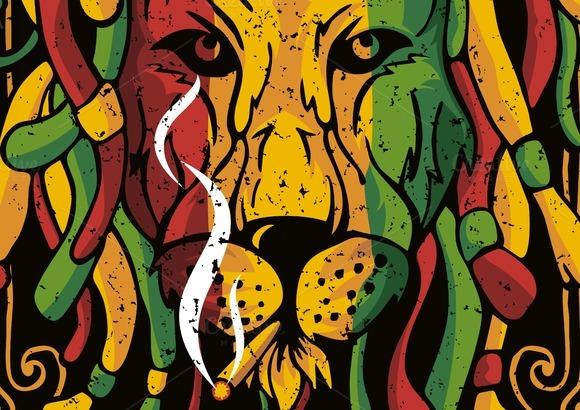 Lion Rasta Vector