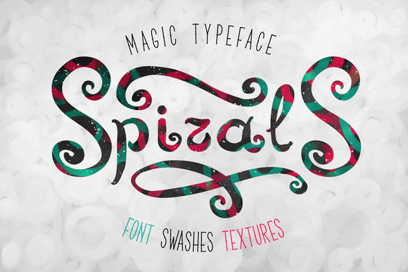 Spirals Font Textures