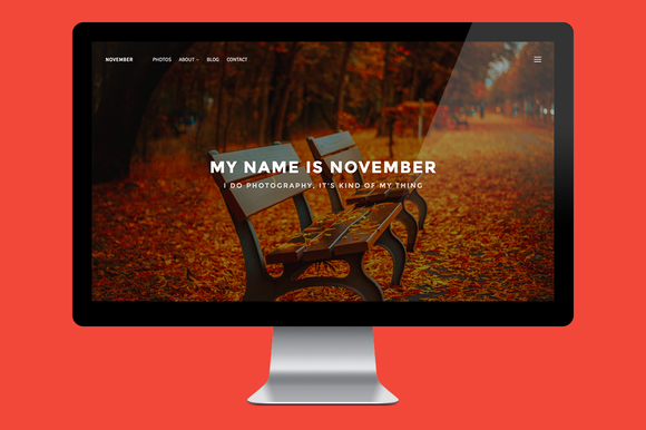 November WordPress Theme