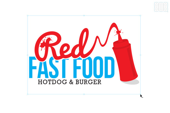 Red Fast Food Logo
