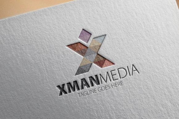 Xman Media X Letter Logo