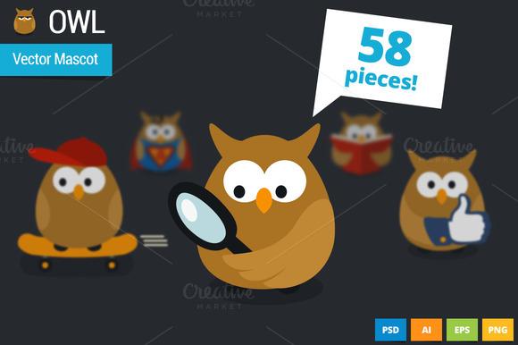 Owl Vector Webiste Mascot