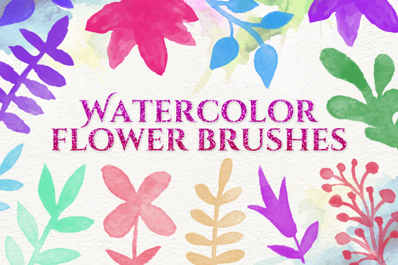 Watercolor Flowers Brushes