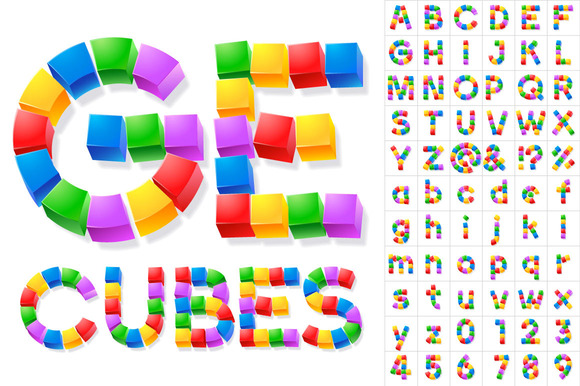 Alphabet Of Children S Blocks