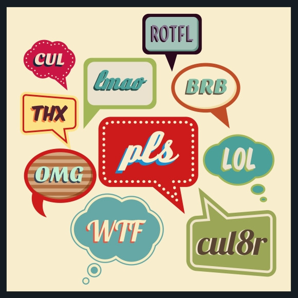 Speech Bubbles With Abbreviations