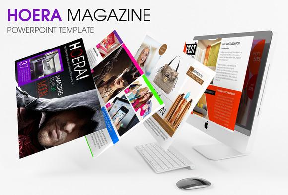HOERA Magazine Powerpoint Template