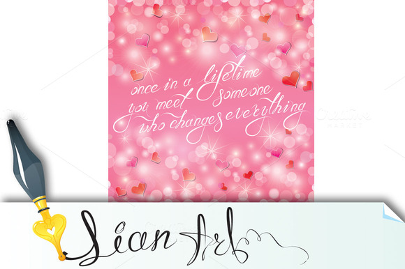 Valentine S Day Or Wedding Pink Back