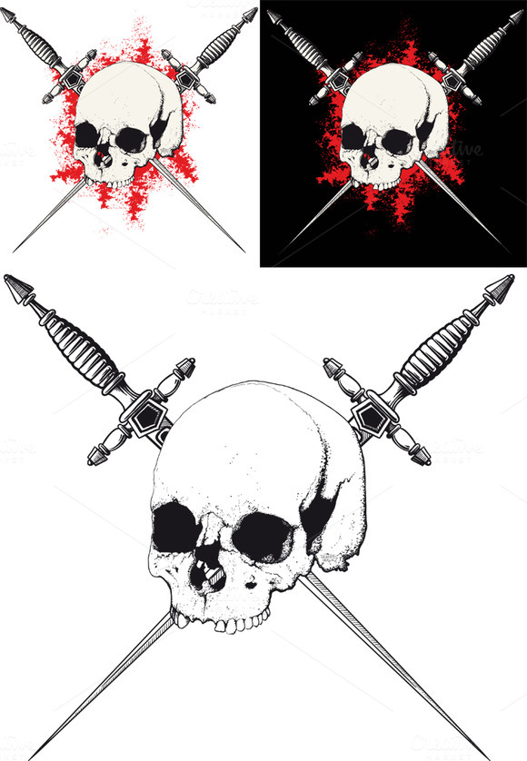 Skull With Two Crossed Dagger
