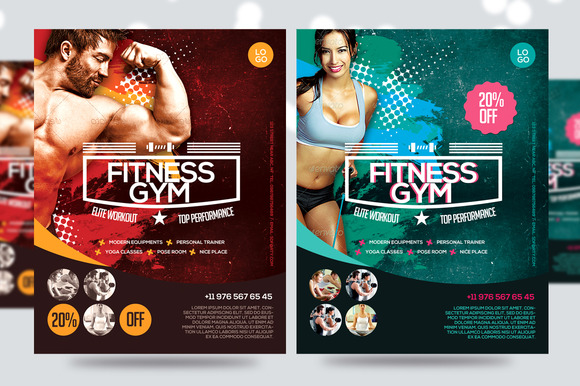 Fitness Gym Business Promotion Flyer