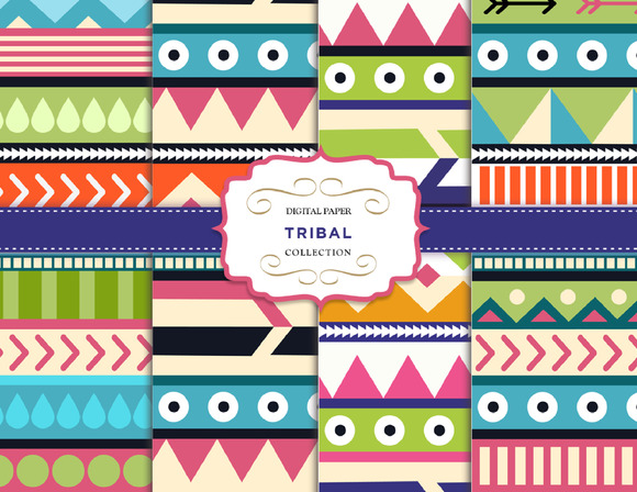 Arrows Tribal Digital Pattern