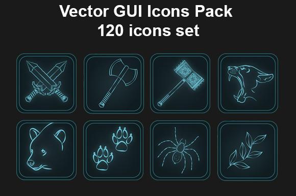 GUI Icons Pack Skills Set