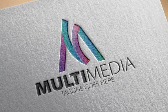 Multi Media M Letter Logo