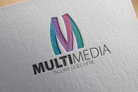 Multi Media V2 M Letter Logo