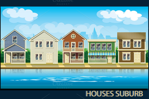 Houses Suburb Set