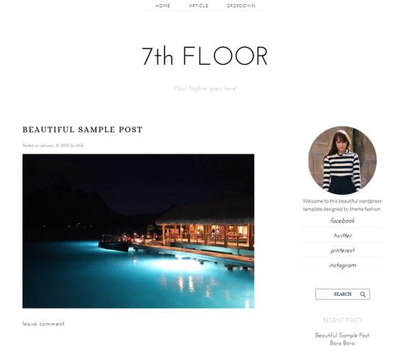 Responsive Wordpress Theme 7th Floor