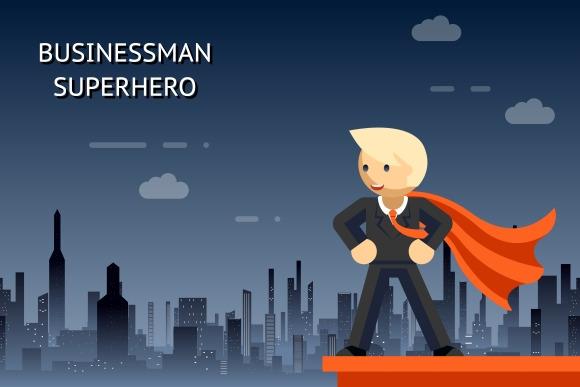 Businessman Superhero