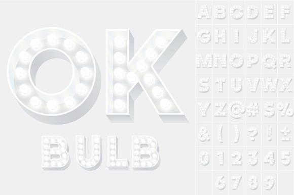 Old Lamp Alphabet White