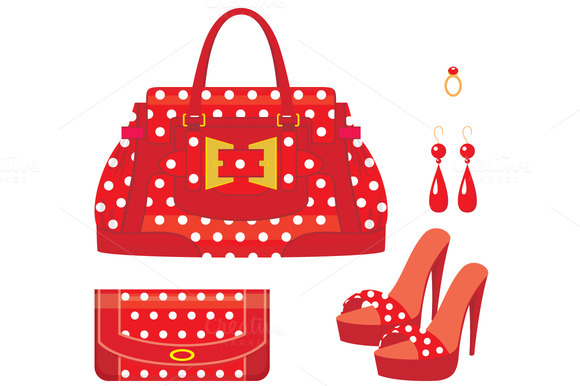 Female Bag Purse And Shoes