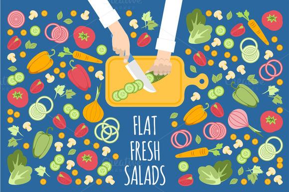 Flat Fresh Salads