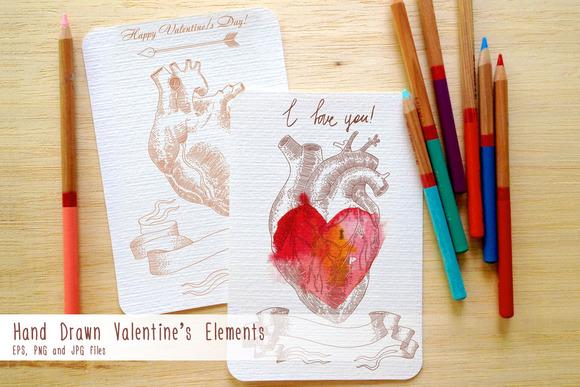 Hand Drawn Valentine S Elements