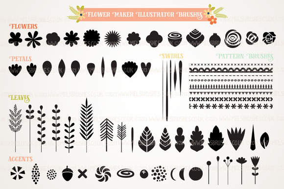 Flower Creator Illustrator Brush Set