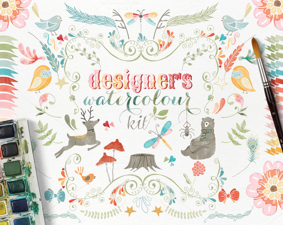 Woodland Watercolour Designer S Kit