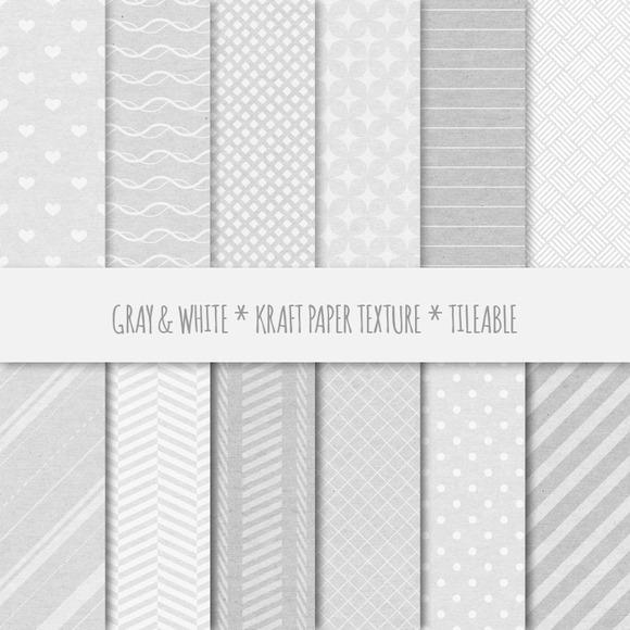 Gray Geometric Seamless Patterns