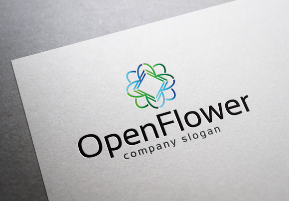 Open Flower Logo