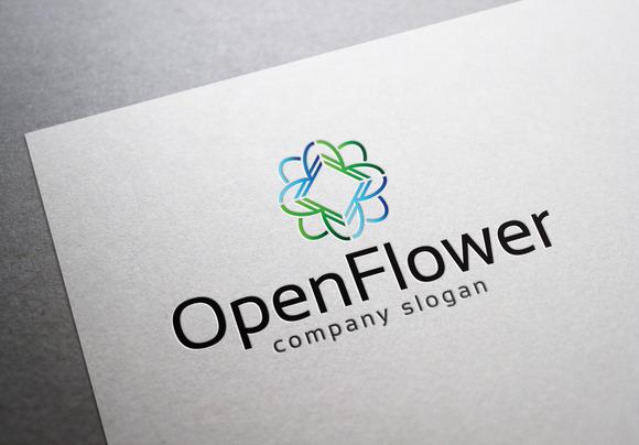 Open Flower Logo