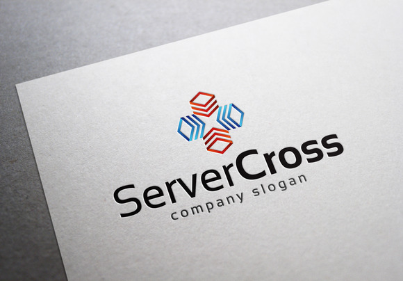 Server Cross Logo