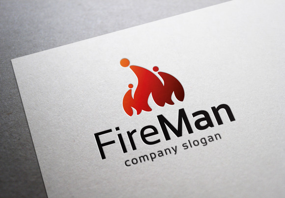 Fire Man Logo