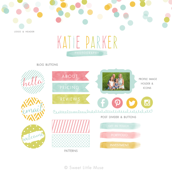 Colorful Blog Kit Blog Elements