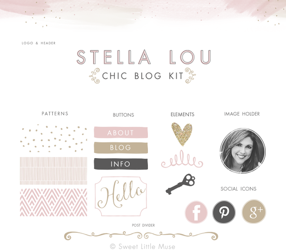 Chic Blog Kit Web Elements