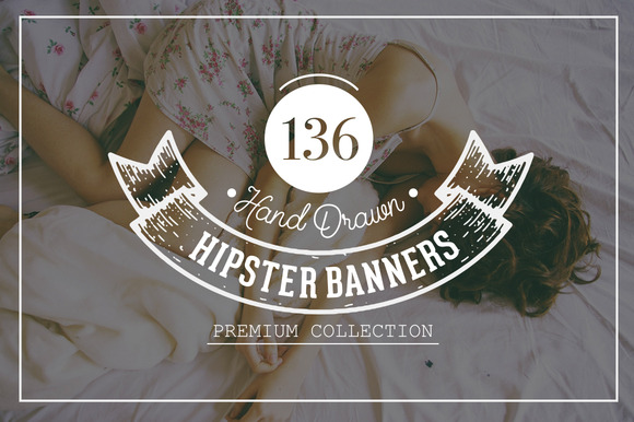 Hand Drawn Hipster Banner Pack