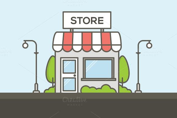 Vector Shop In 2 Styles