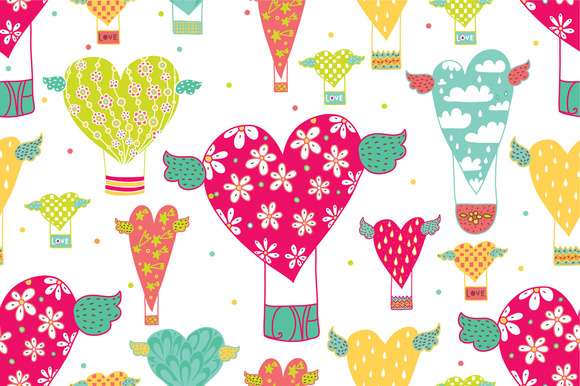 Valentine S Day.Pattern Cards Set