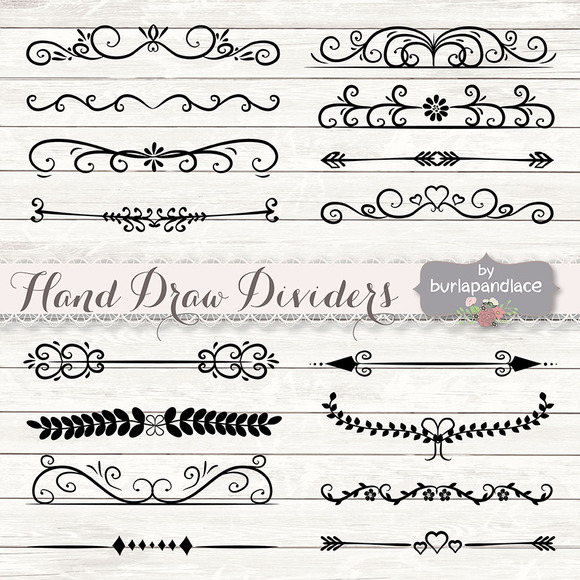 Hand Draw Dividers Cliparts