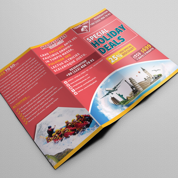 Travel Trifold Brochure 01