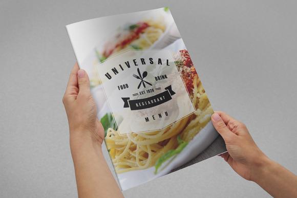 Universal Restaurant Menu A4