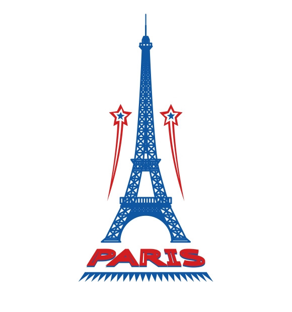 Paris France Retro City Logo