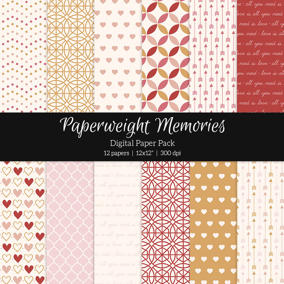 Patterned Paper Stay With Me