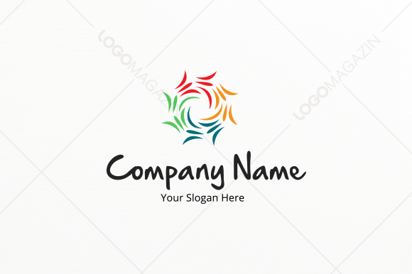 Colored Sun Logo Template