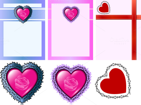 Love Cards Vector Illustration
