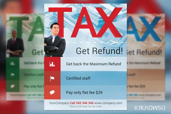 Tax Refund Flyer Template