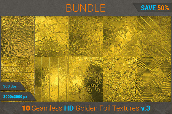 Golden Foil HD Texture Bundle