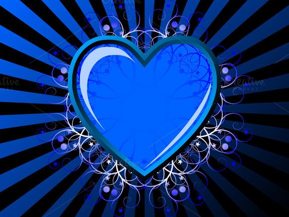 Blue Heart Vector Illustration