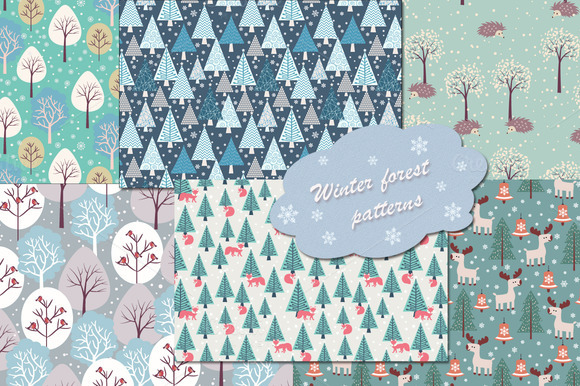 Winter And Christmas Patterns