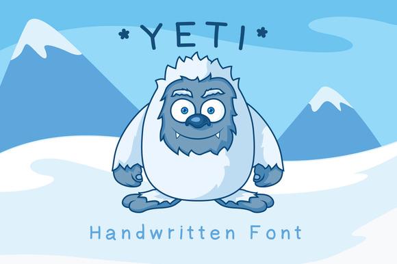 Yeti Hand Drawn Font