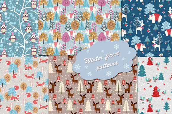 Winter Christmas Patterns Collection