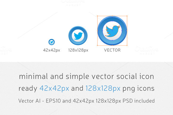 Minimal Simple Vector Social Icons